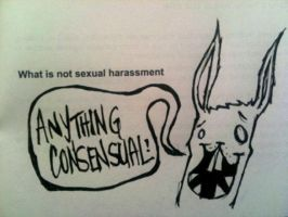 Sexual Harassment Bunny by CaitlynEdwards91