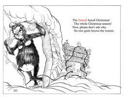 Grinch Ink and Text by anthonymarques