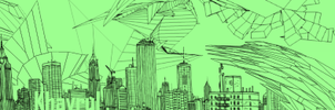 Wireframe City by Doodleheadme