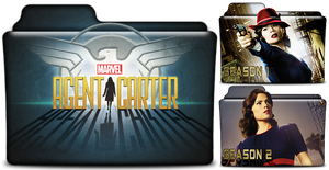 Marvels Agent Carter TV Show Folder in PNG and ICO by vikkipoe24