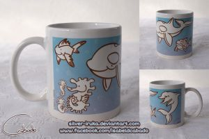 Aquatic animals mug 2 by Silver-Iruka