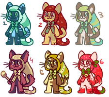 magic cats by lazy-adoptables