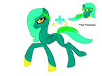 MLP Teal Treasue DTA Entry by banditandshastagal