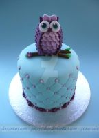 Little Owl Cake by ginas-cakes