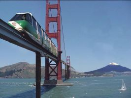SF Monorail: American Dream by Frankencow