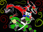 Turtles and dragons-colored by phoenix-R-fireheart
