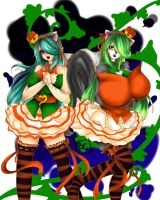 Emmy and Kumie pumpkins by LeonKatlovre