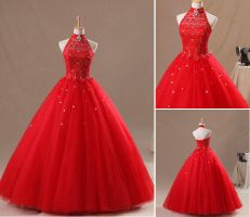 Red Wedding Dress by weodress