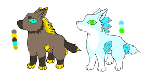 Gemwolf adopts by Storm-Cwalker