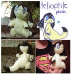 Helioptile Plushie by scilk