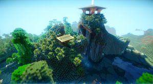 Minecraft Shrine by soongpa