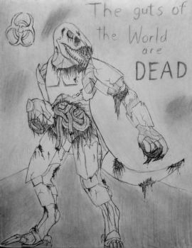 The guts of the World are Dead (zombie Bantroc) by Creeva7
