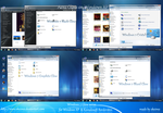 Windows 7 Glow series for XP by Okeimo