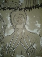 Wolverine Splatter by GreenMind-Dead