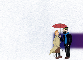 Tintin in the rain by Ad1er