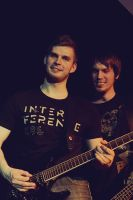 Guitarist and Bassist from Five Minutes Late I by B-onDA