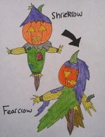Fakemon: Shriekrow,Fearcrow by Brawl483