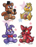 Fnaf plushies by WhisperOrca