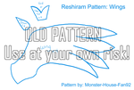 Reshiram Plushie Pattern: Wing by Monster-House-Fan92