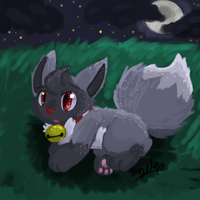 By the shimering moonlight by LittleWhiteWolfAngel