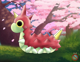 Wurmple Wallpaper by shadowhatesomochao