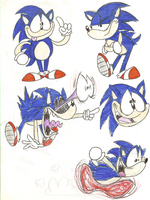Cartoon Sonic by Weretoons101