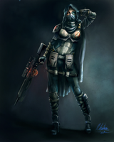 female sniper class by retroafro1