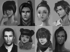 Portraits Collection #2 by wangqr