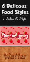 Delicious Food Photoshop Text Styles by Twist3dDNA