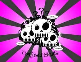 Confused Skulls - pink by arghilicious