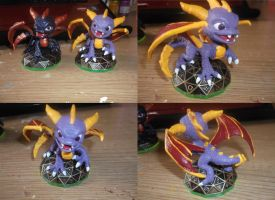 Skylanders Spyro Repaint by blackphantom1412