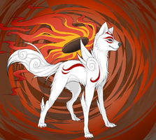 Amaterasu by wingedwolf94