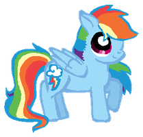 Overly Attractive Dashie by Star--Sprout