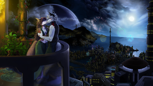Raphial and Avala's romantic scene by BlackBy