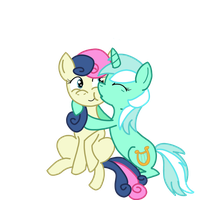Lyra And Bon Bon by eddiekitty2008
