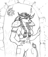 my Tauren Druid: Moonclaw by bishie-keeper