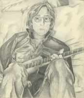 john lennon drawing by djayschmitt