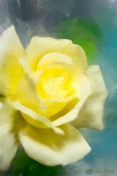 Yellow Rose, Digital Painting by Expressowl