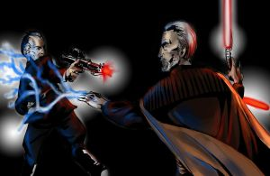 Dooku vs Tarkin by MarioandLuigiFanatic