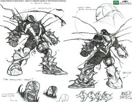 Spawn sketches by antworksdigital