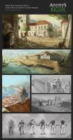 Sketches - Assassin`s Creed Brasil by diogocarneiro