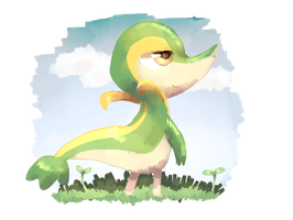 Snivy by sweating