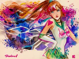 Commission: Sailor Jupiter by rianbowart