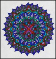 Mandala Collab Project--colored By Ruthie 2 by crazyruthie