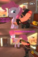 Pinkie Pie plays a trick on Heavy (Gmod) by ErichGrooms3