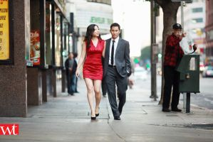 stroll in downtown los angeles - engagement photos by wilsontang