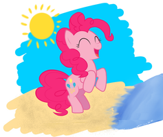 Pinkie at the Beach by charli3brav0