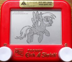 Derpy Hooves etch a sketch by pikajane