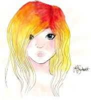 Gradient hair by Aria-Melodie