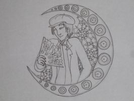 Mucha ABCs: Feuilly sketch by RiderRRiddle